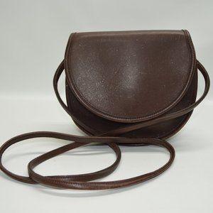 Coach USA Made Vintage Small Round Flap Crossbody
